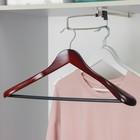 Вешалка-плечики с перекладиной для верхней одежды, размер 44-46, цвет лотос
