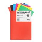 Картон цветной немелованный А5, 6 листов, 6 цветов, плотность 220 г/м?, ЭКОНОМ
