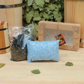 Подарочный набор «Добропаровъ», 2 предмета: Иван-чай с мелиссой, фитоподушка Ош