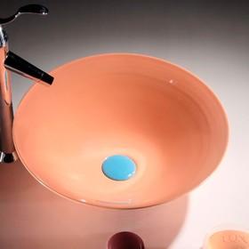 Раковина для ванной MELANA MLN-T4006H-B5, 385х385х140 мм, накладная, цвет персиковый Ош