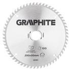 Диск отрезной по алюминию GRAPHITE 55H611, 250 x 30 мм, 100 зубьев, твердосплавные напайки