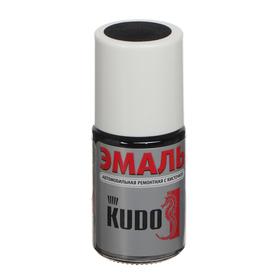 Эмаль Kudo автомобильная ремонтная акриловая с кисточкой '1К чёрная матовая', 15 мл Ош
