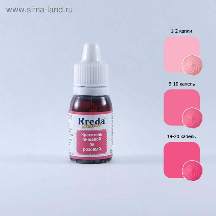 Краситель пищевой кондитерский гелевый Kreda Decor, розовый, 10 г