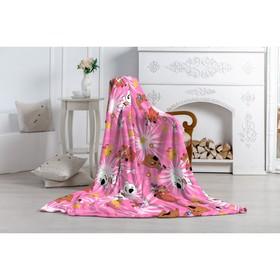 Плед Павлинка «МимиМишки», размер 150х100 см, цвет розовый, аэрософт