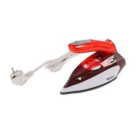 Утюг KELLI KL-1636, 1400 Вт, керамическая подошва, дорожный, отпаривание, 120/240Вт, красный