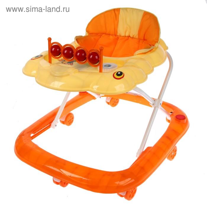 Ходунки «Планеты», музыкальные, цвет оранжевый