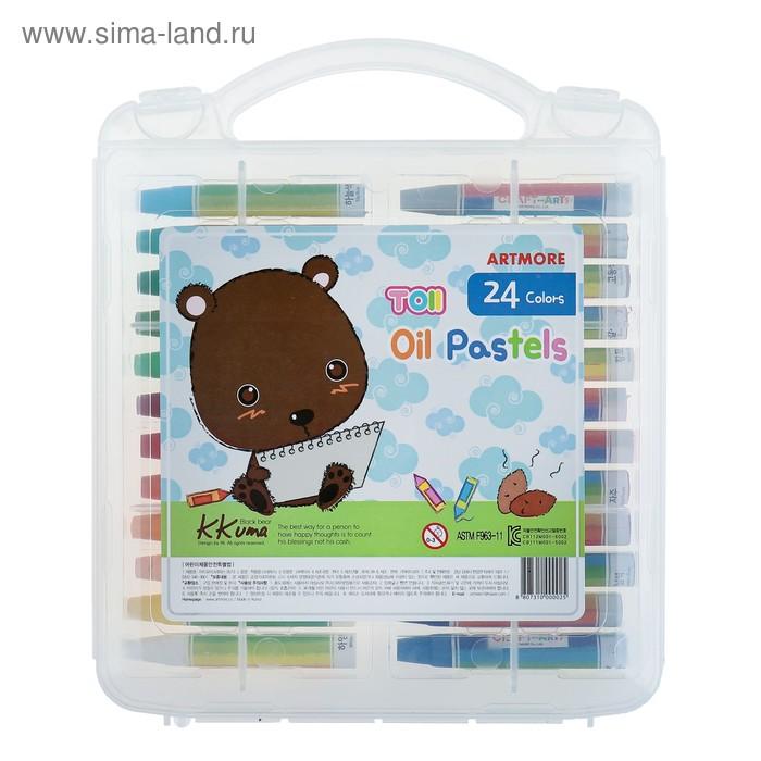 Пастель масляная детская TOII, 24 цвета, в пластиковом кейсе