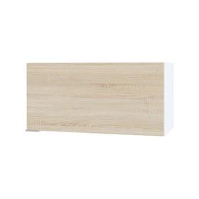 Шкаф к вытяжке, 600 × 300 × 296 мм, цвет белый/дуб сонома