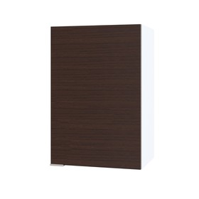 Шкаф с полками, 400 × 300 × 600 мм, цвет белый/венге
