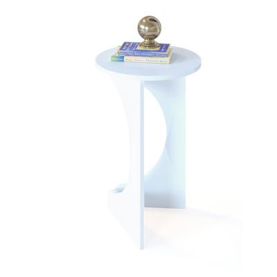 Журнальный столик, 400 × 400 × 616 мм, цвет белый - Фото 1