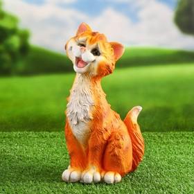 Садовая фигура 'Забавный рыжий кот' 11х14х25см Ош