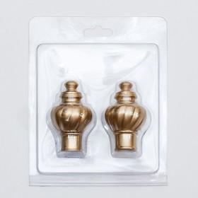 Наконечник «Сириус Фэшн», 2 шт, цвет матовое золото