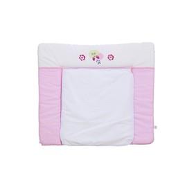 Доска пеленальная Polini kids Joy «Весенняя мелодия», мягкая с вышивкой, 85 х 75, розовая Ош