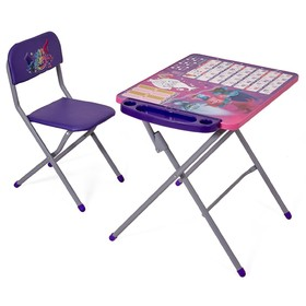 Комплект детской мебели Polini kids 303 Тролли, цвет фиолетовый Ош