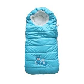 Конверт в коляску утеплённый «Плюшевые Мишки», цвет голубой Ош