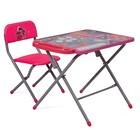 Комплект детской мебели Polini kids 203 Тролли, цвет розовый