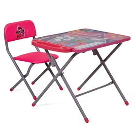 Комплект детской мебели Polini kids 203 Тролли, цвет розовый Ош