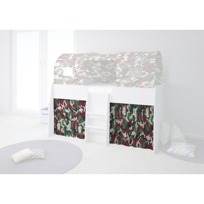 Шторки для кровати-чердака Polini kids Simple 4100, цвет камуфляж