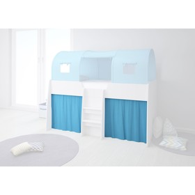 Шторки для кровати-чердака Polini kids Simple 4100, цвет голубой Ош