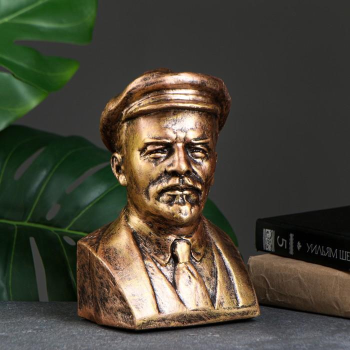 Бюст Ленина, бронза 14х21см