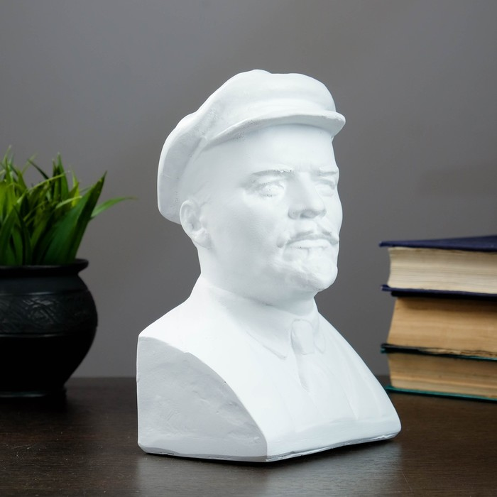 Бюст Ленина, белый 13,5х21,5см