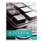 Тетрадь предметная «Чёрное-белое», 48 листов в клетку, «Алгебра», со справочным материалом, белизна 75%, бумажная обложка