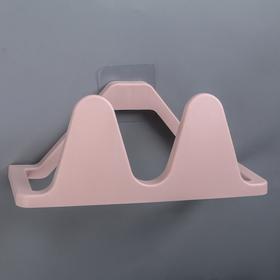 Подставка для хранения обуви настенная, 24×11,5×10 см цвет розовый Ош
