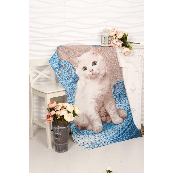 Вафельное полотенце Пушистик 80х150 см, разноцветный, хлопок 100 %, 160г/м²