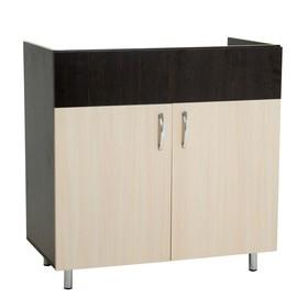 Шкаф напольный под мойку 800 Тоника, Венге/Дуб молочный Ош