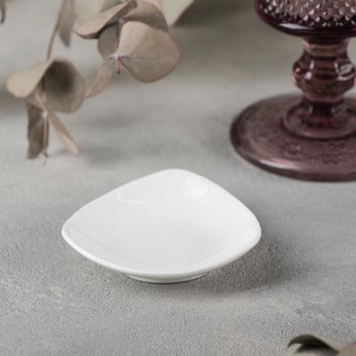 Соусник Wilmax, 7,5×7,5×2 см, 30 мл, цвет белый - Фото 1
