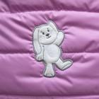 Конверт утепленный Зайчик, цвет розовый - Фото 5