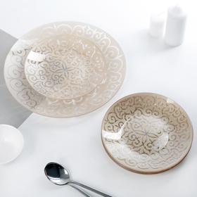 Набор тарелок «Восток», 7 предметов, цвет золотой