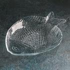 Тарелка из закаленного стекла 19,6х16 см Marine, прозрачная