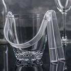 Ведро для льда с ручкой и щипцами «Sylvanа» 650 мл, h=13 см