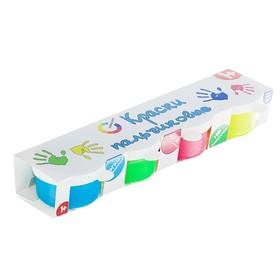 Краски пальчиковые, набор 4 цвета x 30 мл, «Азбука цвета», флуоресцентные Ош