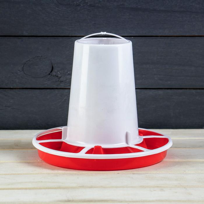 Кормушка для домашней птицы на 1 кг, цвет МИКС