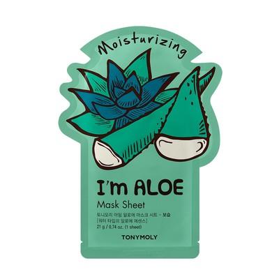 Тканевая маска увлажняющая Tony Moly  I'm Aloe Mask с экстрактом алоэ, 21мл