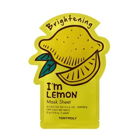Тканевая маска осветляющая Tony Moly I'm Lemon Mask с экстрактом лимона, 21 мл