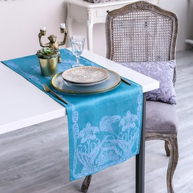 Дорожка на стол Этель Лён «Луиза» 35×145 ± 3 см, 100% лён Ош