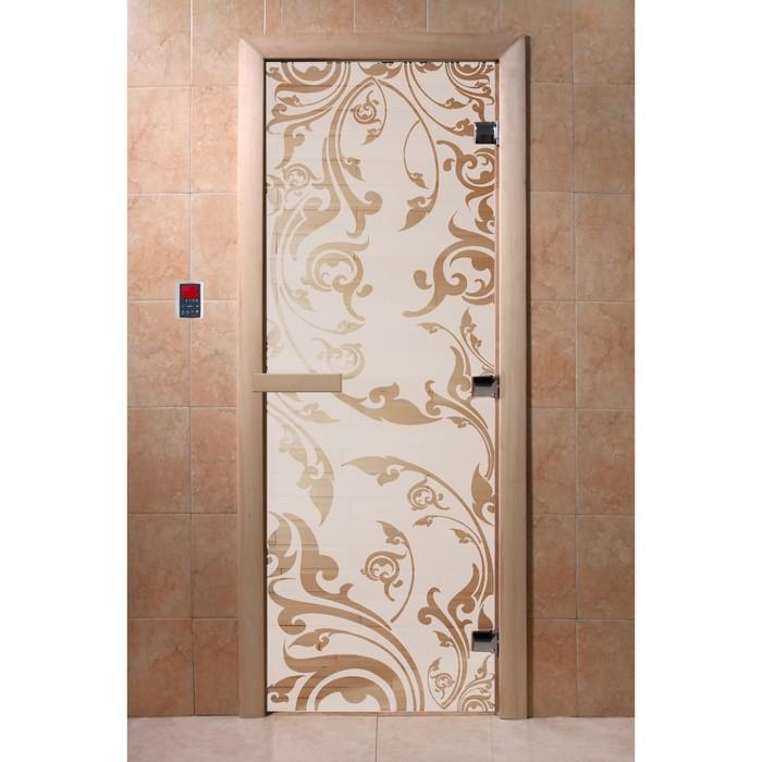 Дверь «Венеция», размер коробки 190 × 70 см, правая, цвет сатин