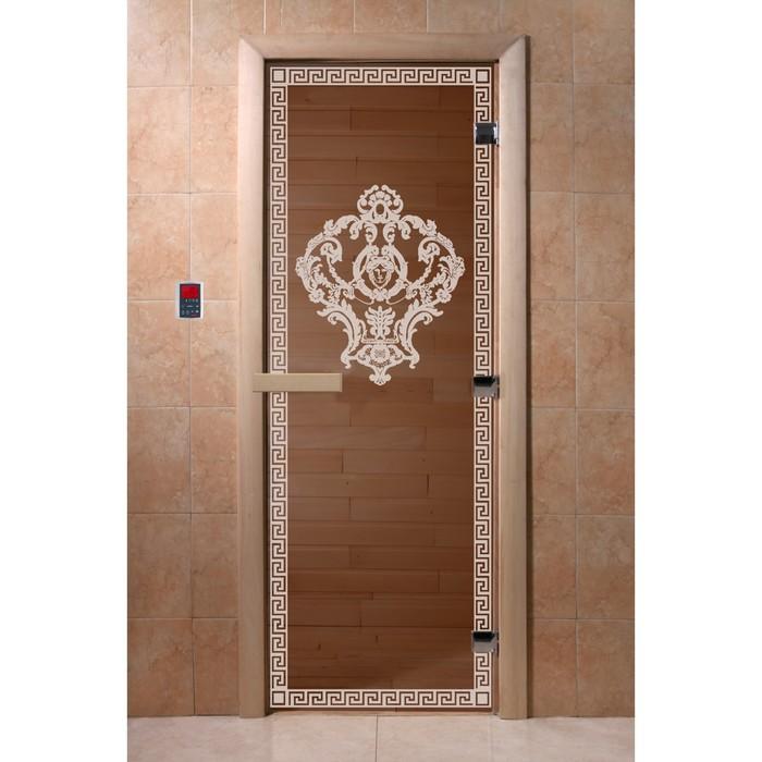 Дверь «Версаче», размер коробки 190 × 70 см, левая, цвет бронза