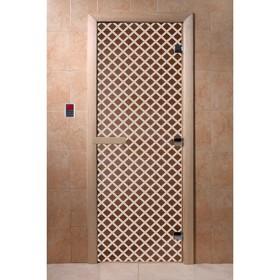 Дверь «Мираж», размер коробки 190 × 70 см, левая, цвет бронза Ош