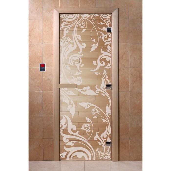 Дверь «Венеция», размер коробки 190 × 70 см, левая, цвет прозрачный