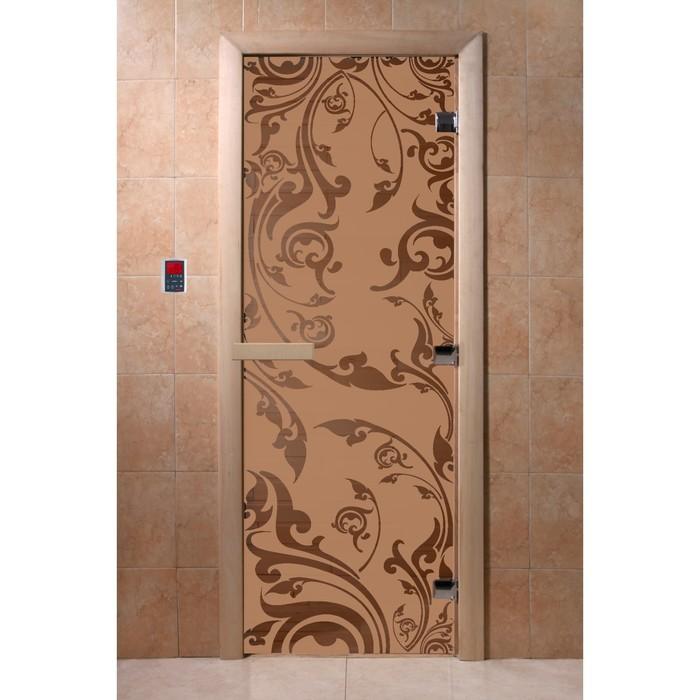 Дверь «Венеция», размер коробки 190 × 70 см, левая, цвет матовая бронза