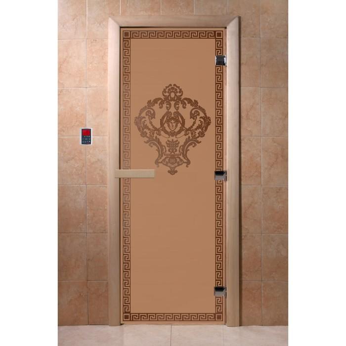 Дверь «Версаче», размер коробки 190 × 70 см, левая, цвет матовая бронза
