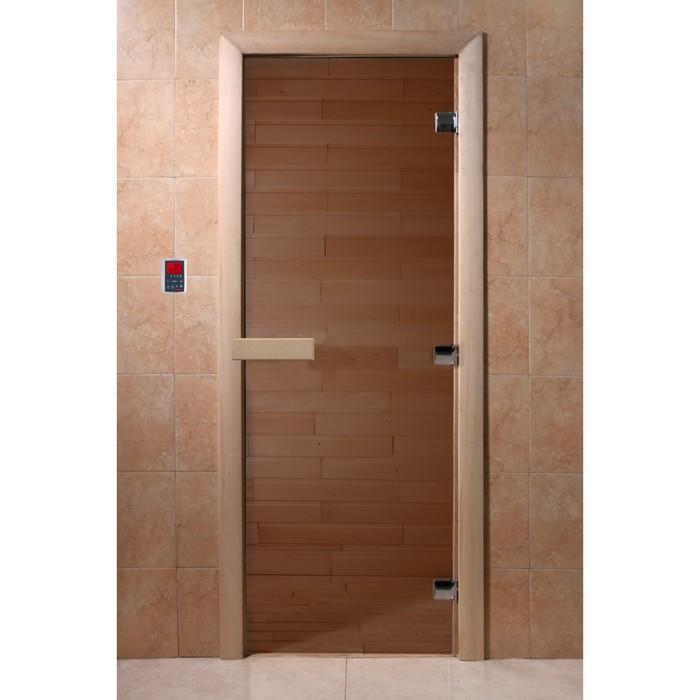Дверь «Бронза», размер коробки 210 × 70 см, левая, коробка ольха