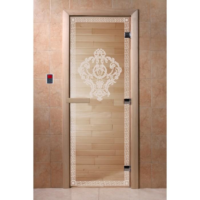 Дверь «Версаче», размер коробки 190 × 70 см, левая, цвет прозрачный