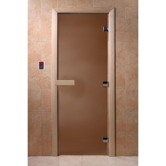 Дверь «Бронза матовая», размер коробки 210 × 70 см, правая