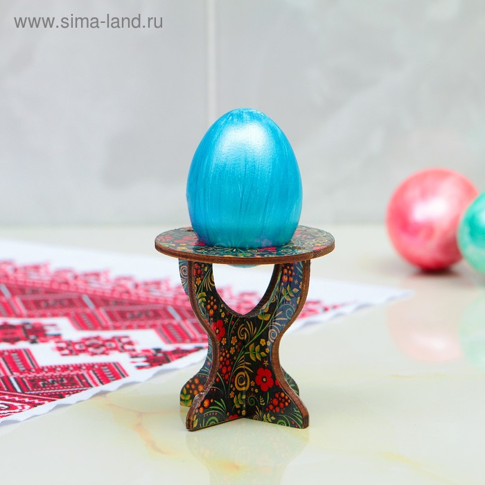 "Подставка под яйцо ""Хохлома"", пасхальная, 7х7 см"