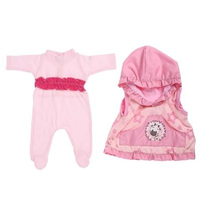 Одежда для кукол 38-42 см «Жилет и комбинезон для девочки», МИКС